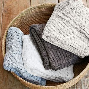 West Elm Organic Cotton Knit Throw